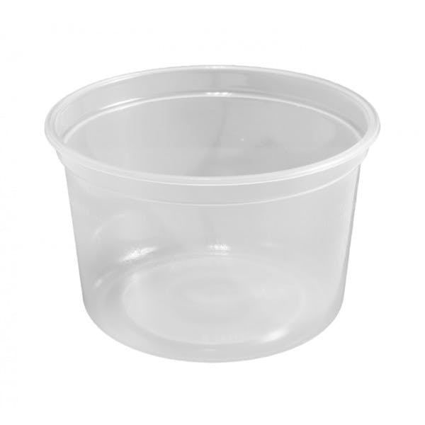 16 oz. Clear Plastic Food Container