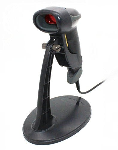 USB Automatic Barcode Scanner Scanning Barcode Bar-code Reader with Hands Free Adjustable Stand (Black) - sold by Meilestone