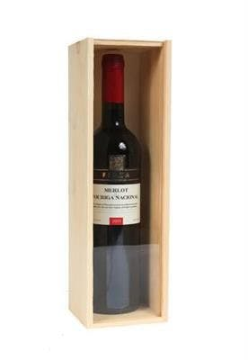 Single Bottle Wood Wine Box with Clear Lid Wine box sold by SpiritedShipper