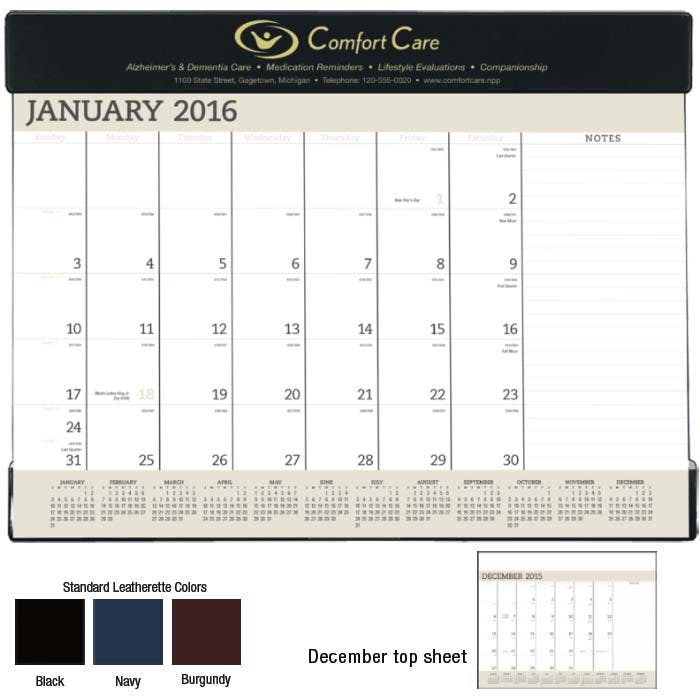 Norwood Promotional Products :: Product :: Vinyl Desk Pad Custom calendar sold by Distrimatics, USA
