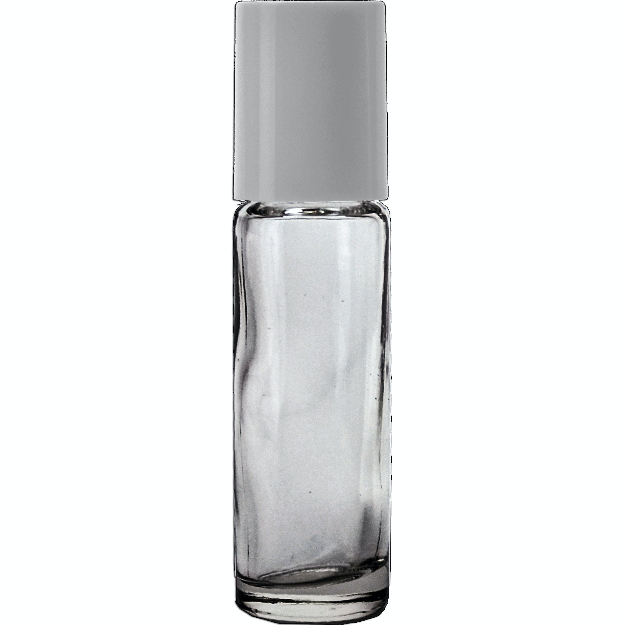10ml Roll-on with White cap Glass bottle sold by Glass Bottle Outlet