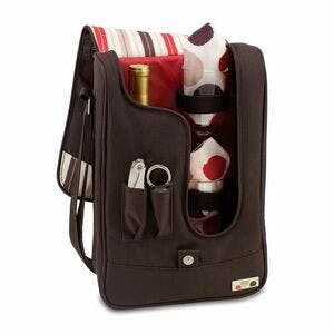 Barossa - Moka Single Bottle Wine Tote w/ Service For Two Wine bag sold by Custom H2Oh!