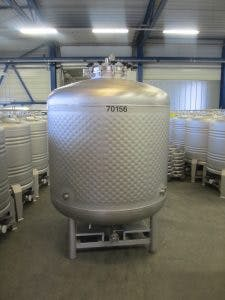 2100 Liter Flat Bottom Jacketed Fermenter