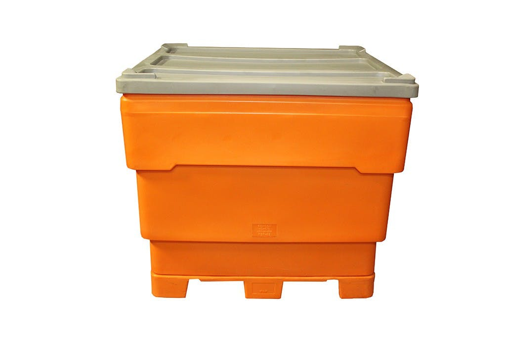 Flat interior bottom Plastic Bin Series with replaceable pallet- REMCON FBP Bin (190+ gal) - sold by Remcon Plastics Inc