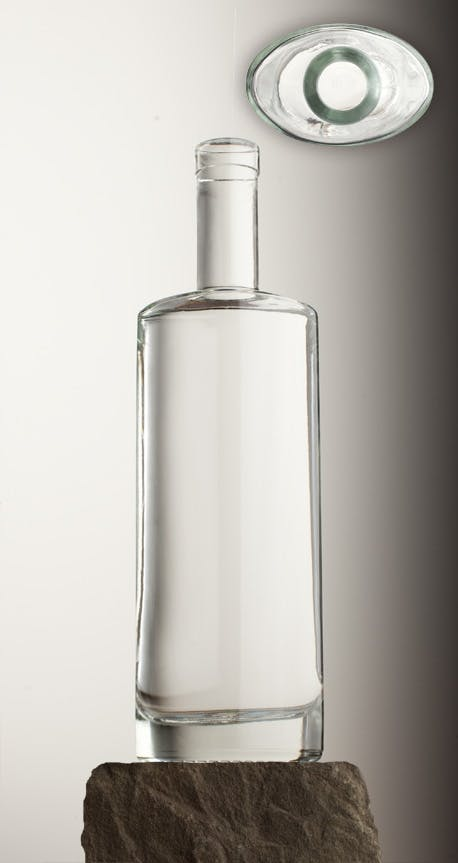 750 ML OVAL 21.5 MM BAR TOP Liquor bottle sold by Brad-Pak
