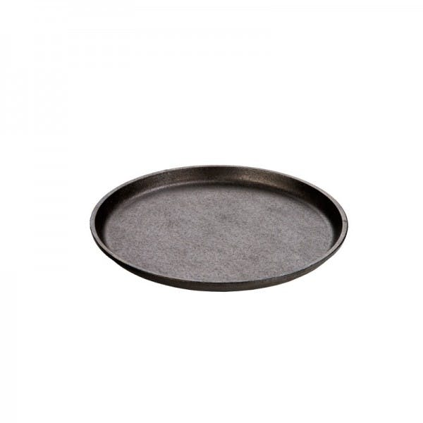 """9.25"""" Seasoned Cast Iron Round Serving Griddle"""