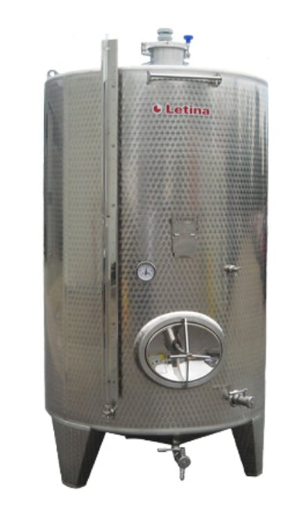 Fermenter - closed top with and without lid Fermenter sold by Mueller Pot Stills Inc