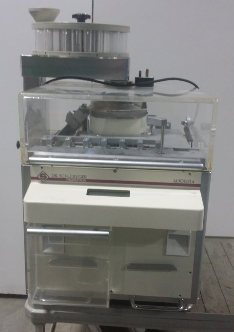 DR. SCHLEUNIGER AUTOTEST 4 Automatic Tablet Testing System (Used) - sold by Aevos Equipment