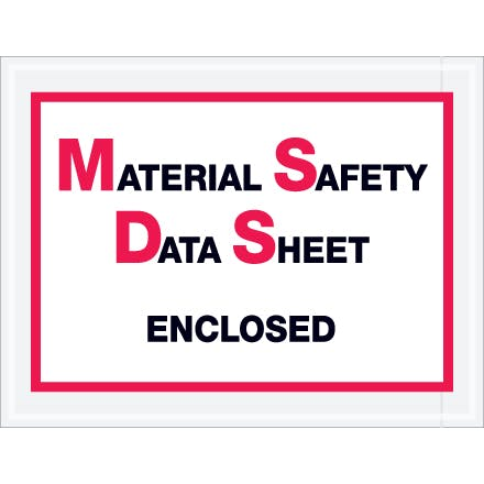 Material Safety Data Sheet Enclosed Envelopes Envelope sold by Ameripak, Inc.