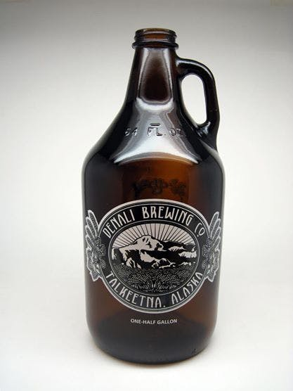 64oz Amber Growler Glass bottle sold by Brew Pack Products