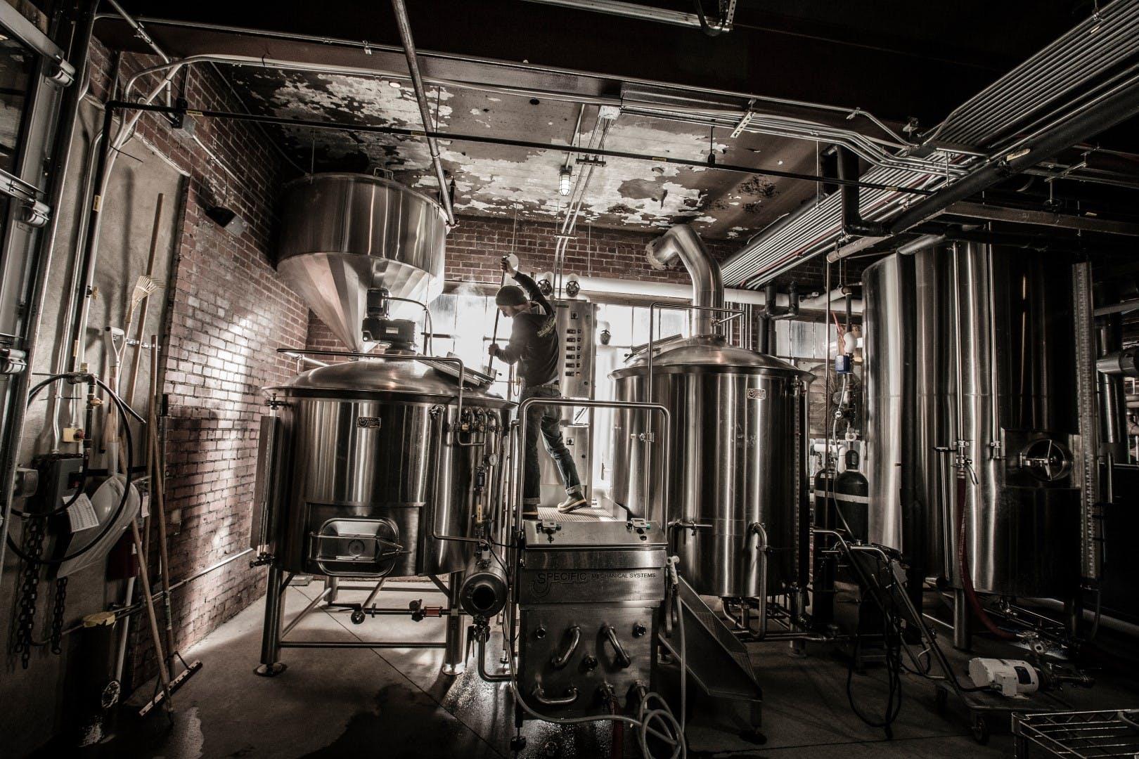 15 Barrel System Brewhouse sold by Specific Mechanical Systems