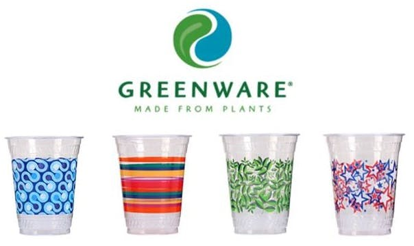16 oz. Greenware Disposable Cups Disposable cup sold by Atlantic Custom Solutions