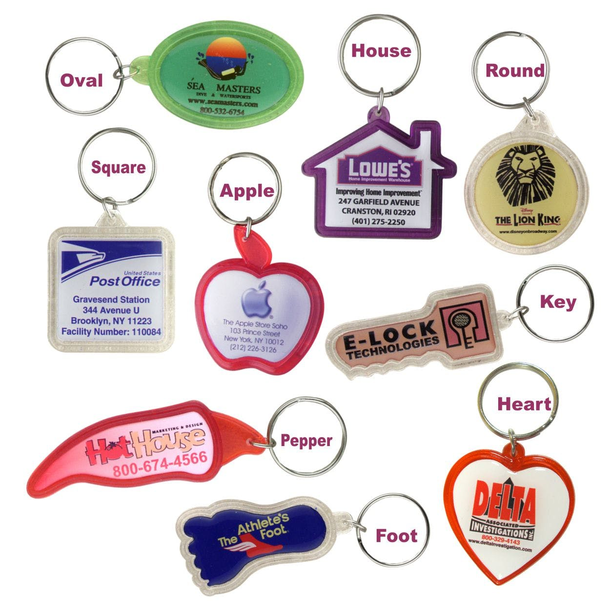 Custom Shaped Key Chain (Item # ABFKL-EPJUM) Promotional keychain sold by InkEasy
