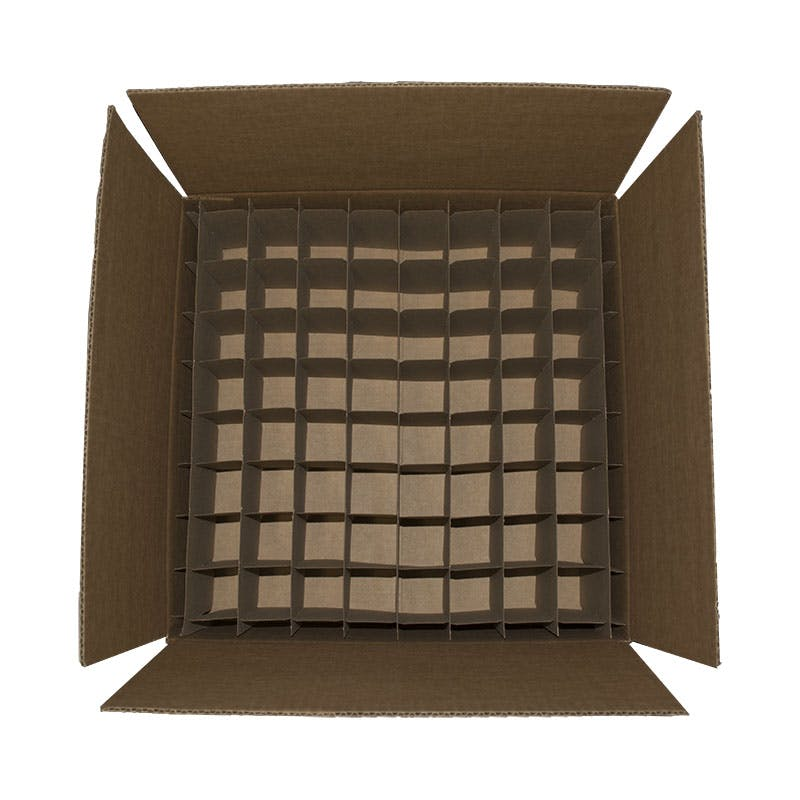 4 oz Boston Round Shipper Box Holds 64 Bottles Custom box sold by Glass Bottle Outlet