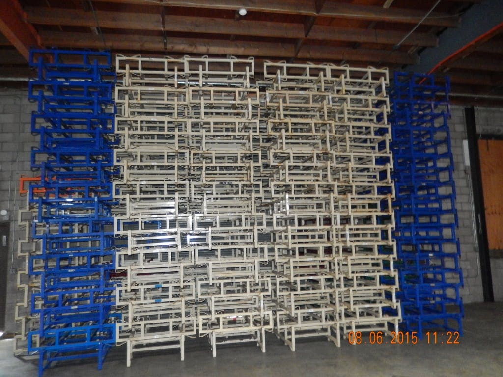 7'' Double bar 2 barrels racks Wine barrel sold by Select Wine Barrels