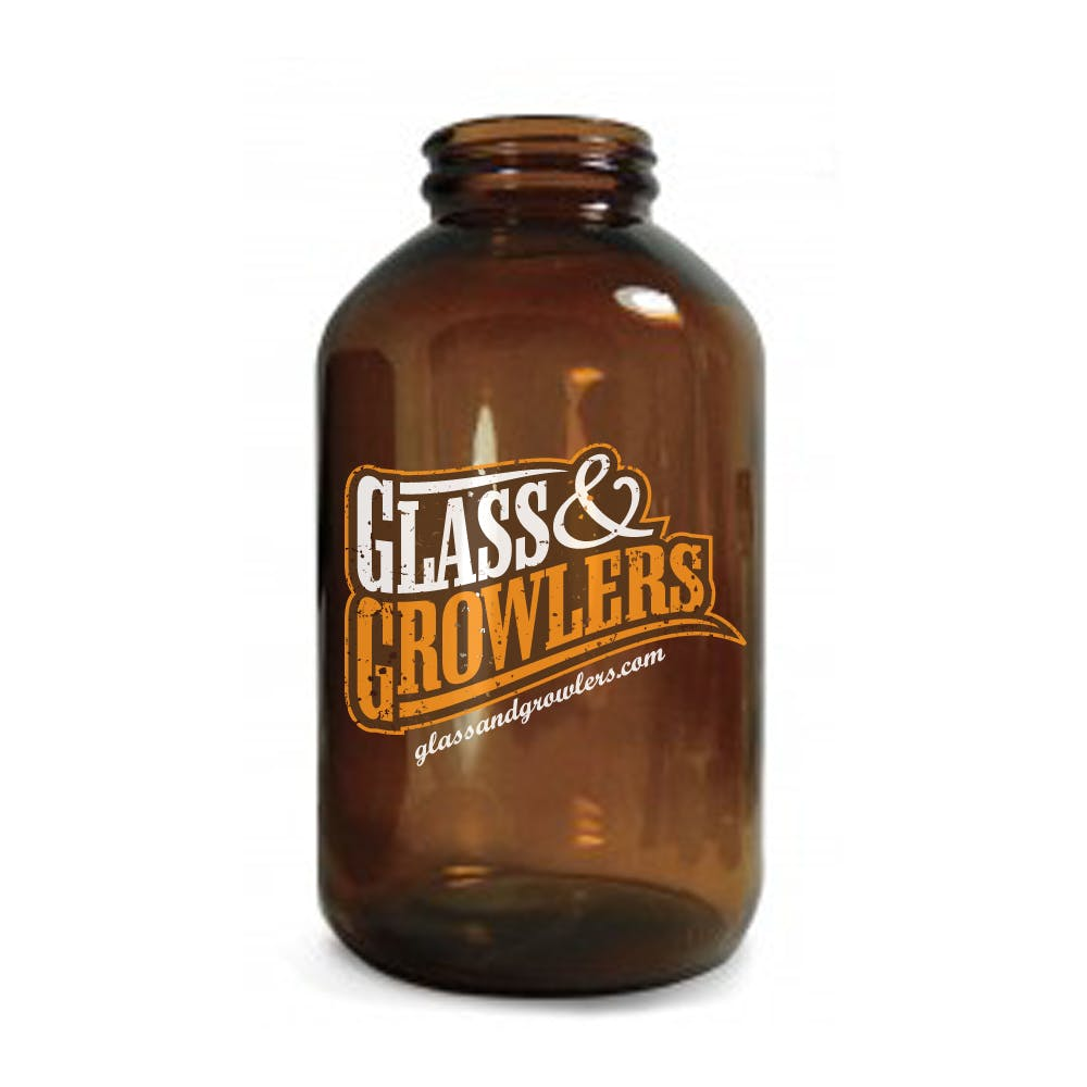 750ml Amber Wide Mouth Growler Growler sold by Glass and Growlers
