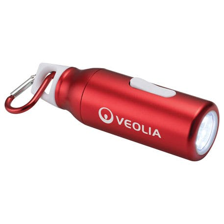 Flow Carabiner Flashlight - 1225-88 - Leeds Promotional flashlight sold by Distrimatics, USA
