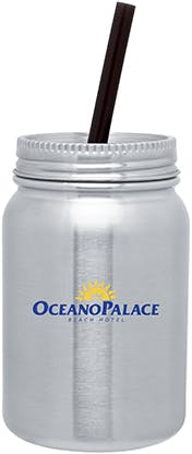 Stainless Steel 30 oz jar Stainless steel mug sold by Distrimatics, USA