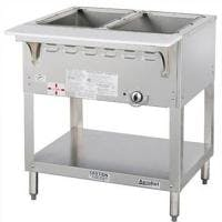 Duke E302 - Aerohot Electric Steamtable w/ Exposed Elements - 2 Sections Steam table sold by Prima Supply