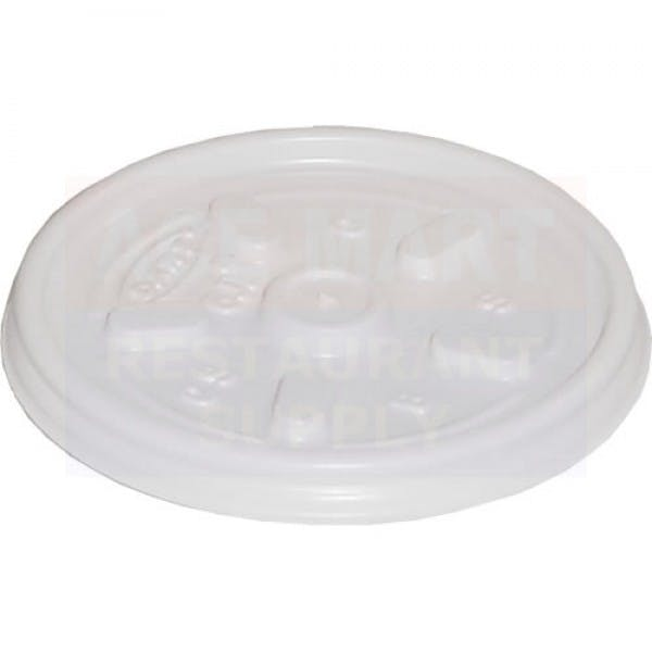 Vented White Plastic Lid for Disposable Foam Containers
