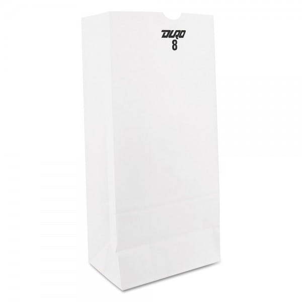 White 8# Paper Grocery Bag