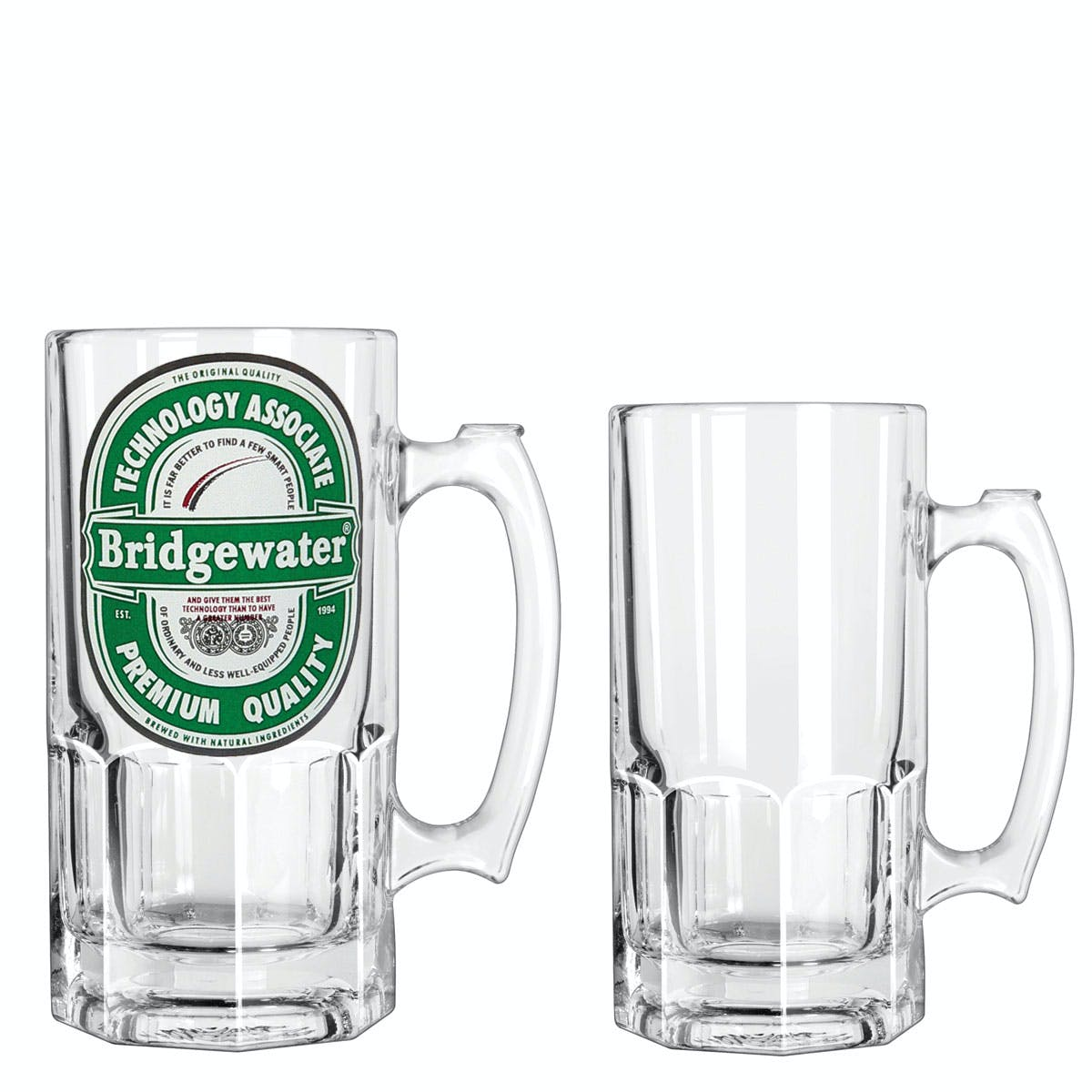 34 Oz. Clear Glass Beer Tankard (Item # HCMJL-IZSTA) Customized Beer Mug sold by InkEasy