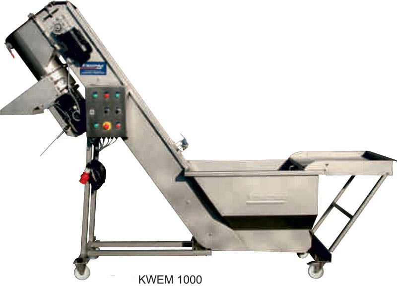 Kreuzmayr KWEM 1000 Washer / Hopper / Grinder Fruit washer sold by Juicing Systems