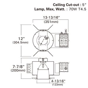 "4"" Ceramic Metal Halide Vertical CMH-T Lamp Flat Frame-in kit, - sold by RelightDepot.com"