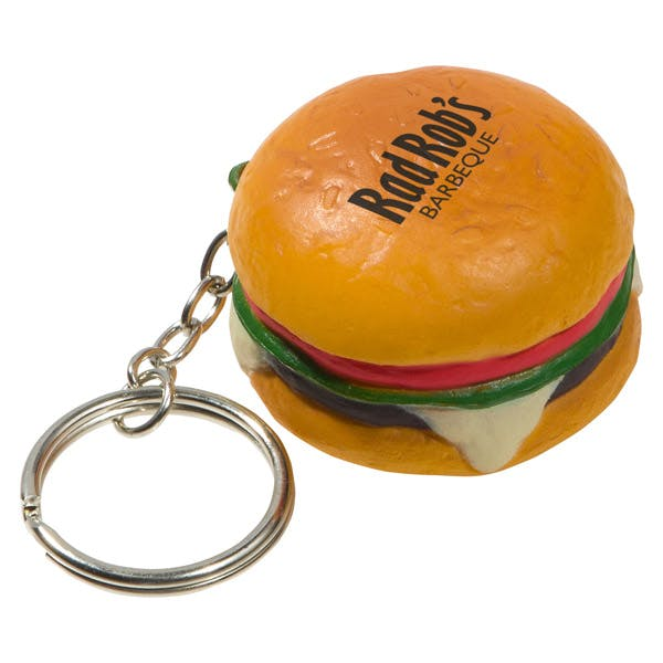 Ariel :: Hamburger Key Chain - LKC-HB07 Stress reliever sold by Distrimatics, USA