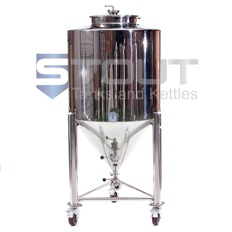 3 BBL Non-Jacketed Fermenter with wheels
