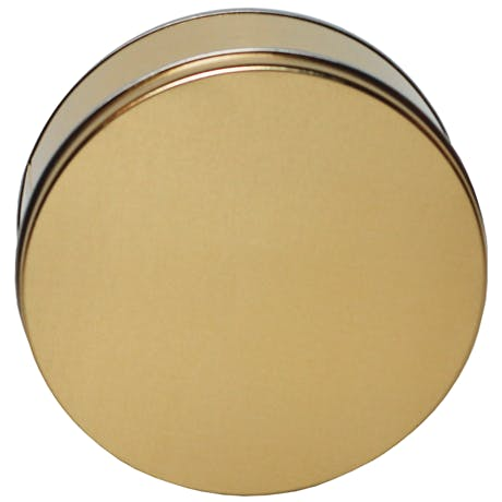 Gold-Round-Decorative-Tin   3 lb Metal tins sold by Inmark Packaging