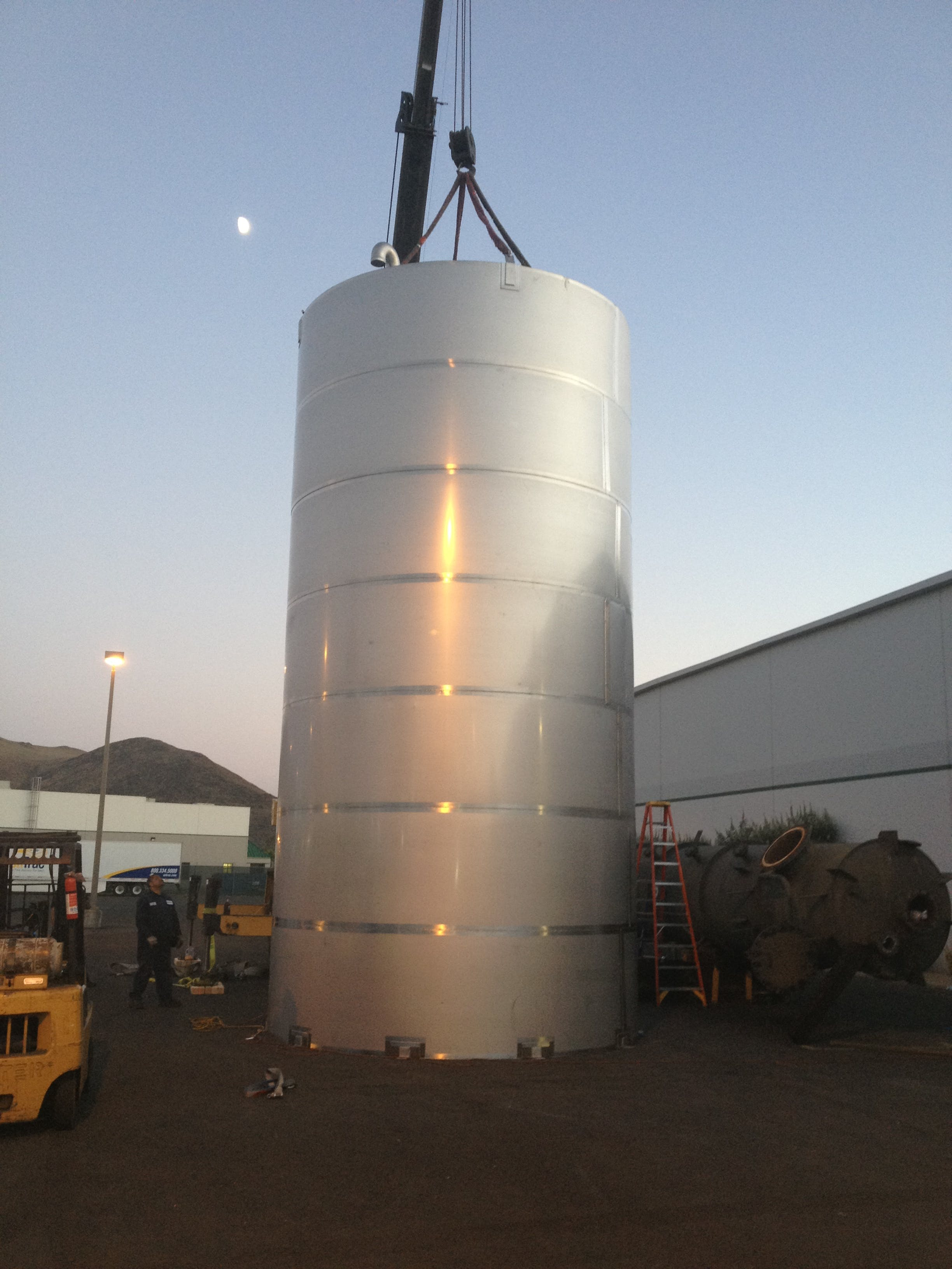 20K stainless steel single shell holding tank  Holding tank sold by Hood-EIC, LLC Tank Division