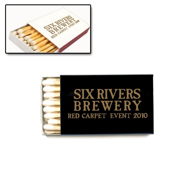 25 Count Boxed Matches Promotional product sold by MicrobrewMarketing.com