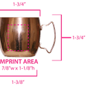 Moscow Mule Shot 2 oz. - Copper mug sold by ARTon Products