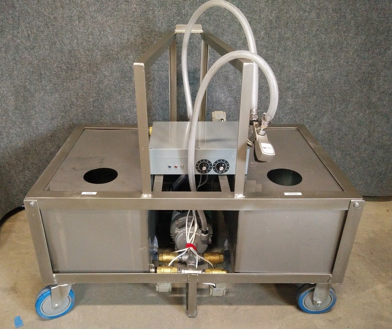 SINGLE HEAD Keg washer sold by Noble Keg Washer