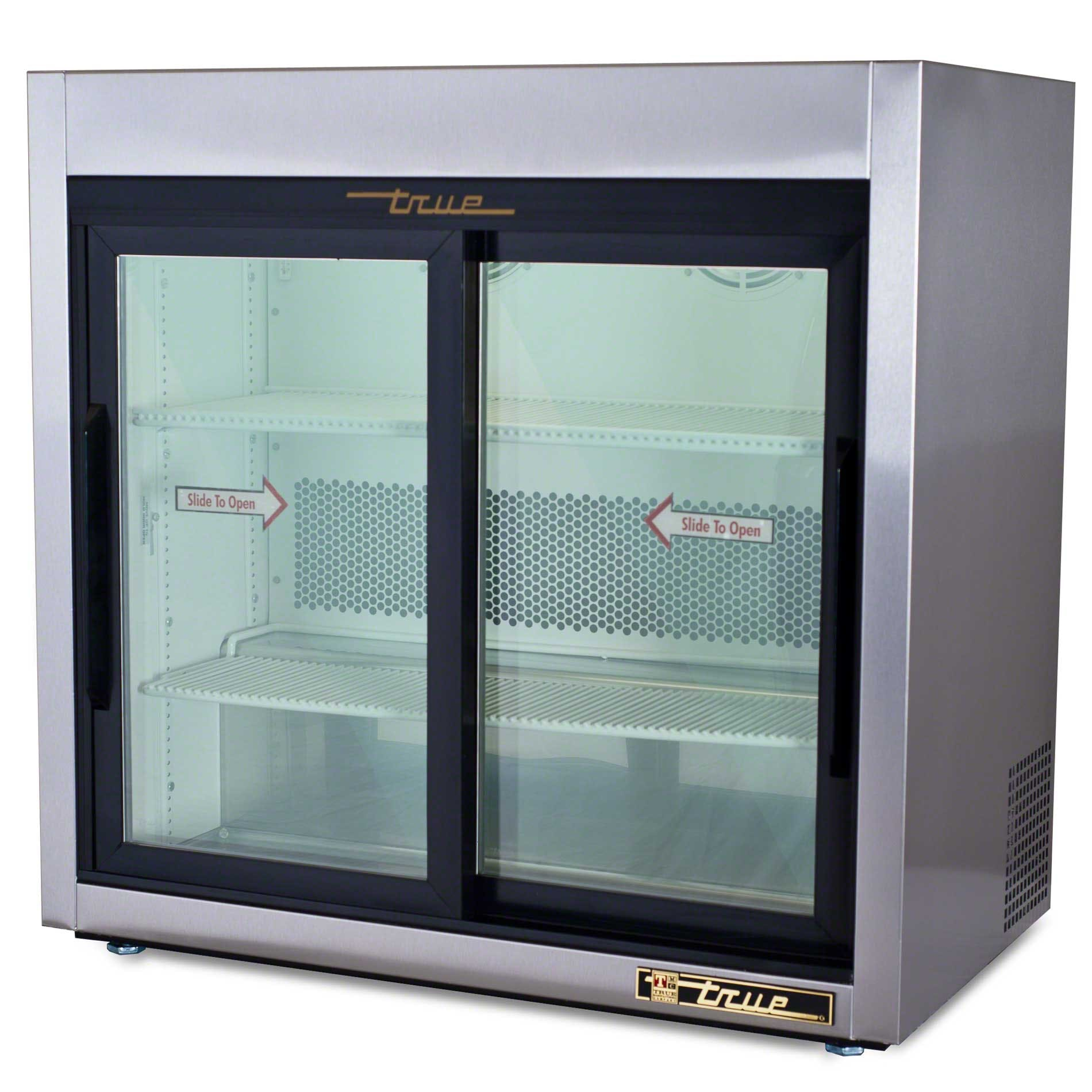 "True - TSD-9G 36"" Slide Glass Door Countertop Merchandiser Refrigerator Commercial refrigerator sold by Food Service Warehouse"