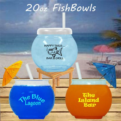 Fish Bowls Plastic bottle sold by 1 Custom Promotions