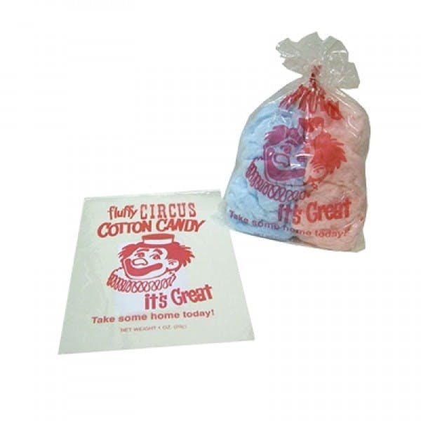 Plastic Cotton Candy Bag