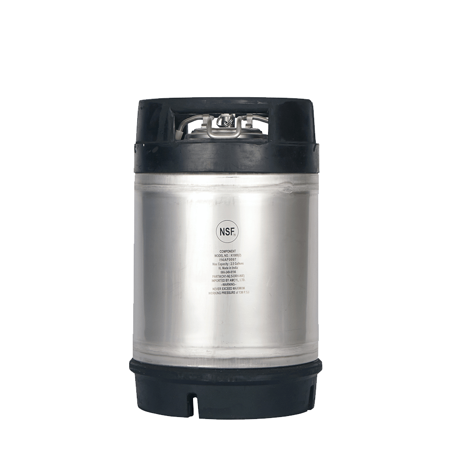 NEW! NSF Approved AMCYL Brand 2.5 Gallon Dual Rubber Handled Kegs Keg sold by All Safe Global, Inc.