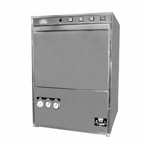"CMA Dishmachines UC65E Undercounter Dishwasher and Glasswasher - High Temp, Taller 14-1/2"" Door Opening Commercial glass washer sold by Mission Restaurant Supply"