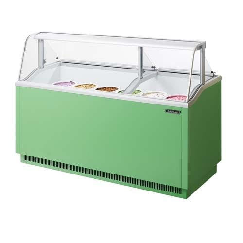 Turbo Air TIDC-70G Ice Cream Dipping Cabinet, 70 Inches, Green Ice cream dipping cabinet sold by Mission Restaurant Supply