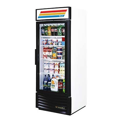 "True - GDM-26RF 30"" Radius Front Glass Door Merchandiser Refrigerator Commercial refrigerator sold by Food Service Warehouse"