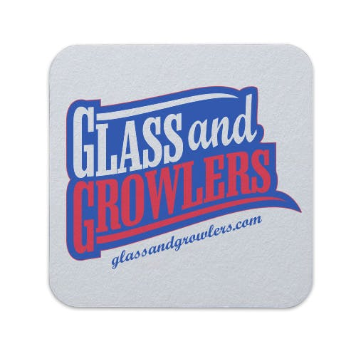 Full Color Square Coasters (Heavy Weight 80pt) | Glass and Growlers Drink coaster sold by Glass and Growlers