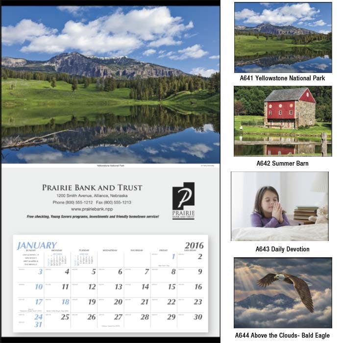 Norwood Promotional Products :: Product :: Large Hanger Custom calendar sold by Distrimatics, USA