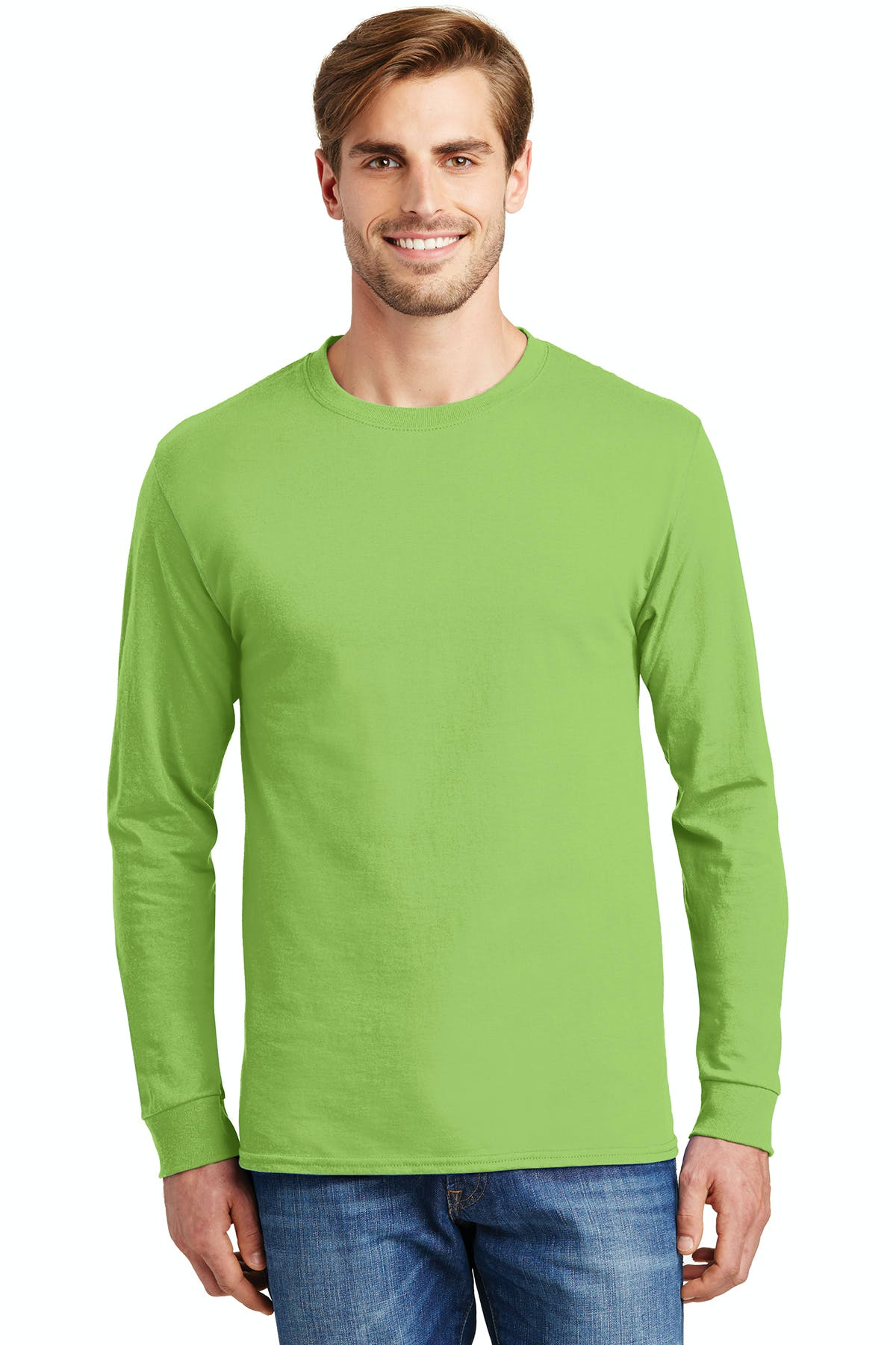 Hanes® - Tagless® 100% Cotton Long Sleeve T-Shirt - sold by PRINT CITY GRAPHICS, INC