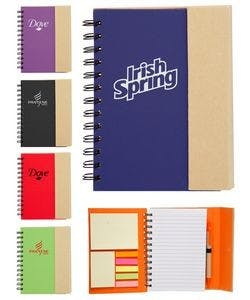 Eco Magnetic Notebook W/Sticky Notes and Flags & Pen Notepad sold by Ink Splash Promos, LLC