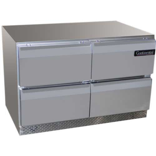 "Continental Refrigerator ( UCF48-D ) - 48"" Drawered Undercounter Freezer Commercial freezer sold by Food Service Warehouse"