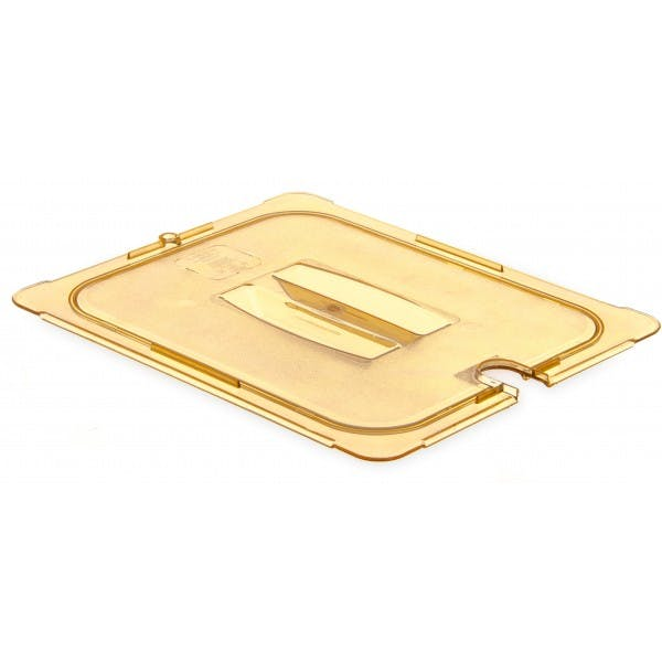 Half Size Amber High Heat Plastic Notched Cover