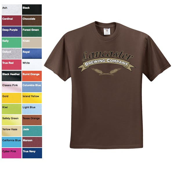 Jerzees 5.6 oz. 50/50 T-Shirt Promotional shirt sold by MicrobrewMarketing.com