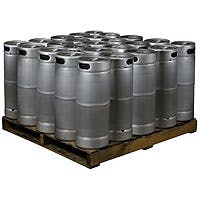 Kegco Pallet of 25 Kegs - 5 Gallon Commercial Keg with Drop-In D System Sankey Valve Model:25X-KEG5- Keg sold by Beverage Factory